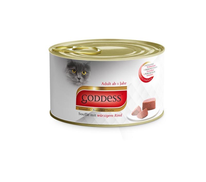 goddess adult 12x85g dose souffl mit w rzigem rind zoo co. Black Bedroom Furniture Sets. Home Design Ideas