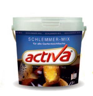 Activa schlemmer mix teichfischfutter 1 liter im eimer for Gartenteichfische shop