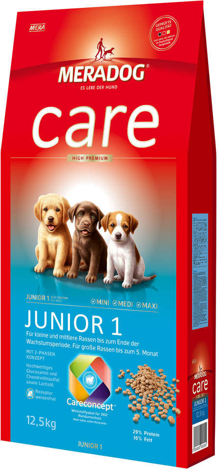 meradog care aufzucht junior 1 kleine und mittlere rassen 12 5kg zoo co. Black Bedroom Furniture Sets. Home Design Ideas