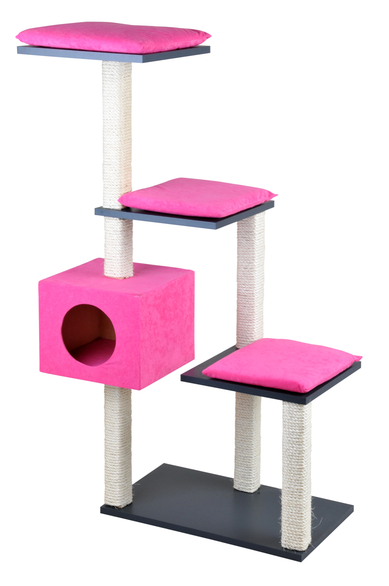 silvio design stufenboy cosy 126cm anthrazit/pink   zoo & co.