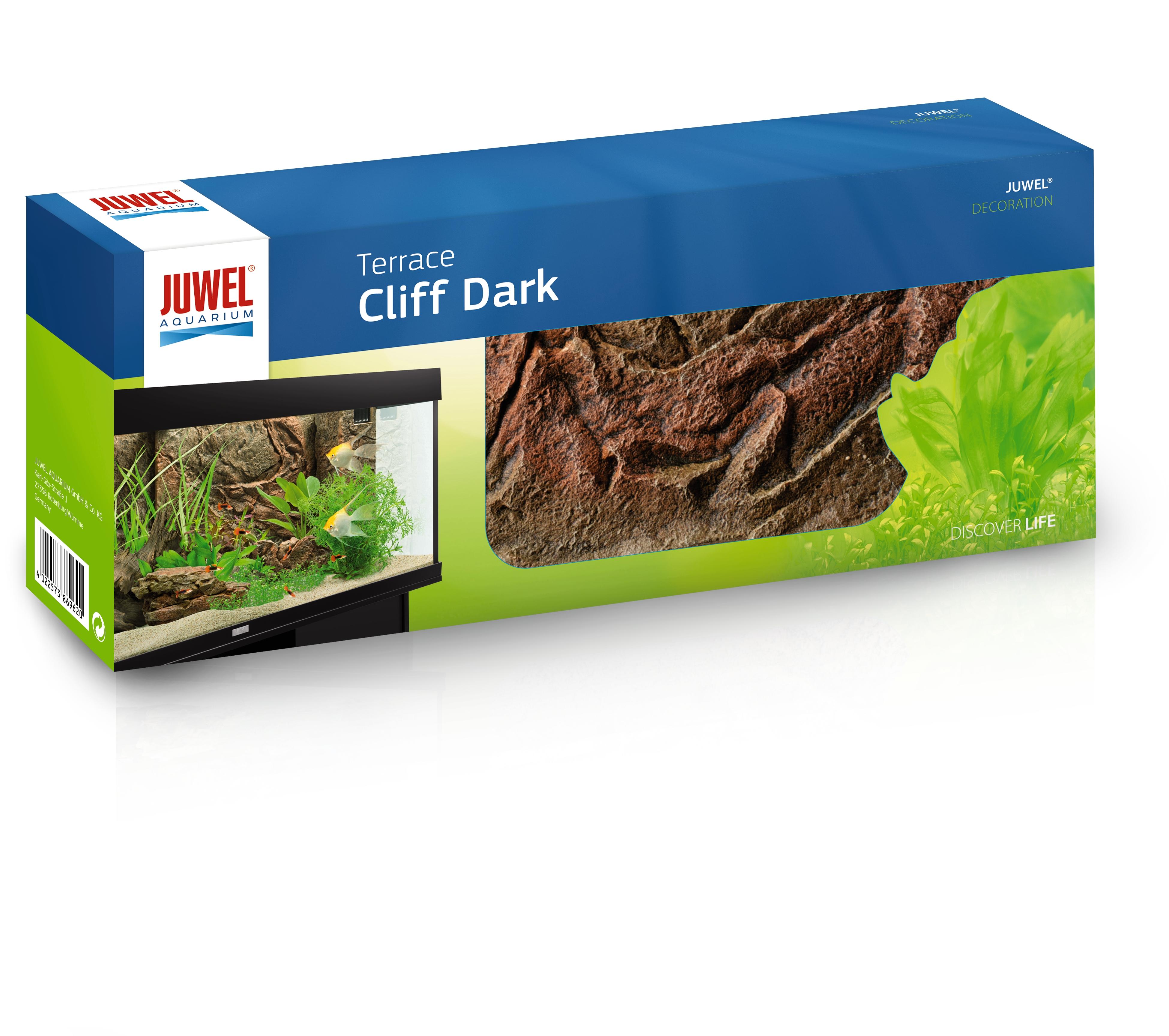 JUWEL Cliff Dark Terrasse Wölbung nach außen 35x15x9cm