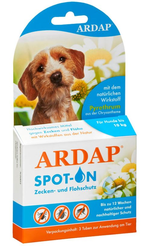 ardap spot on hund 3x1ml 10kg zoo co. Black Bedroom Furniture Sets. Home Design Ideas