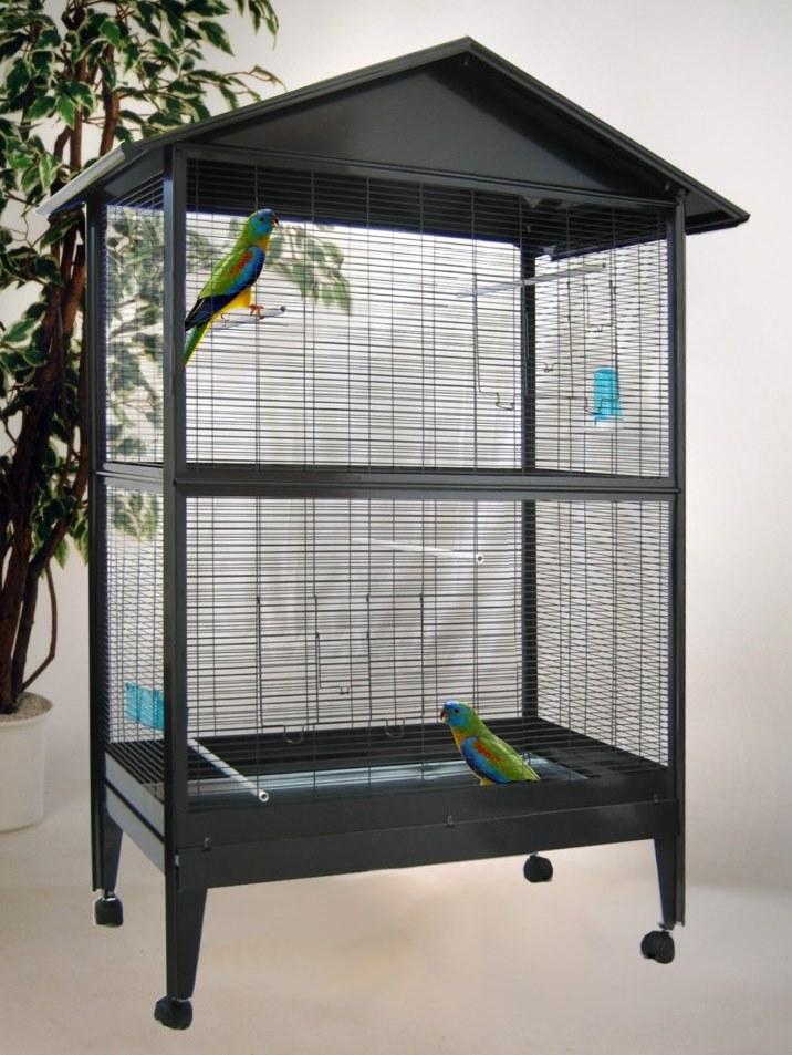 bird dream voliere venedig anthrazit 169cm zoo co. Black Bedroom Furniture Sets. Home Design Ideas