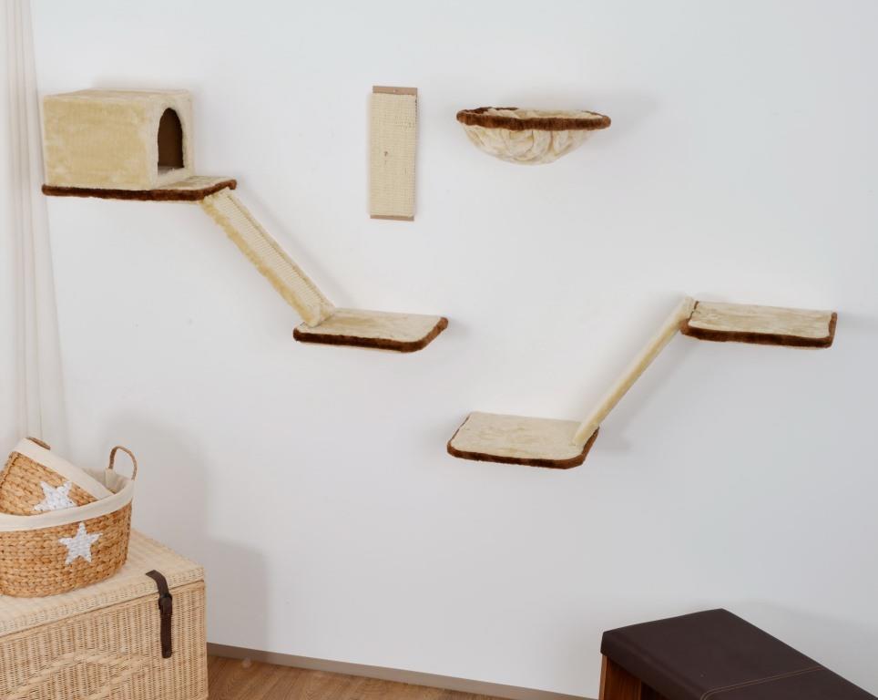 SILVIO DESIGN Katzen-Kletterwand Mit Treppe 8-teilig
