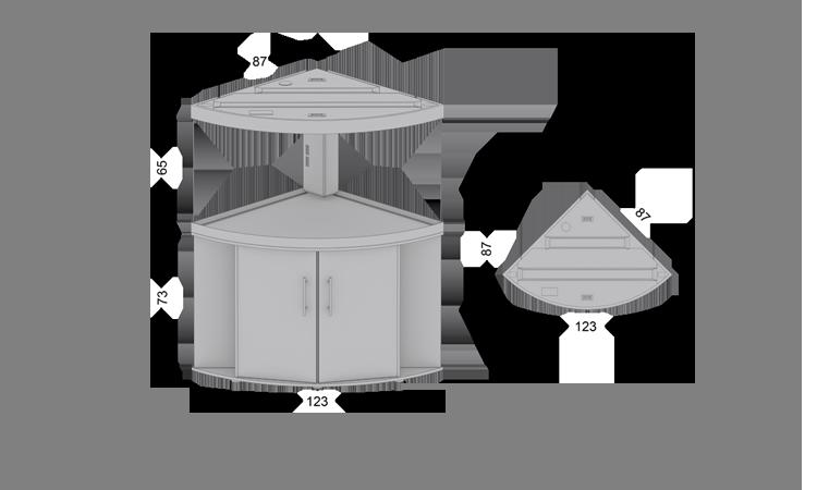 juwel eck aquarium trigon 350 schwarz kombination zoo co. Black Bedroom Furniture Sets. Home Design Ideas