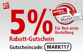 Rabatte und Gutscheine - Sparen im ZOO & Co  Onlineshop