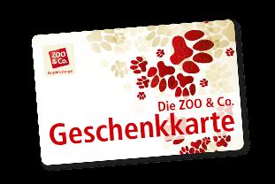 ZOO und Co Geschenkkarte