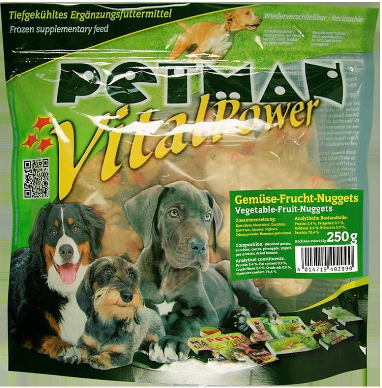 PETMAN Vital Power Gemüse Frucht Nuggets