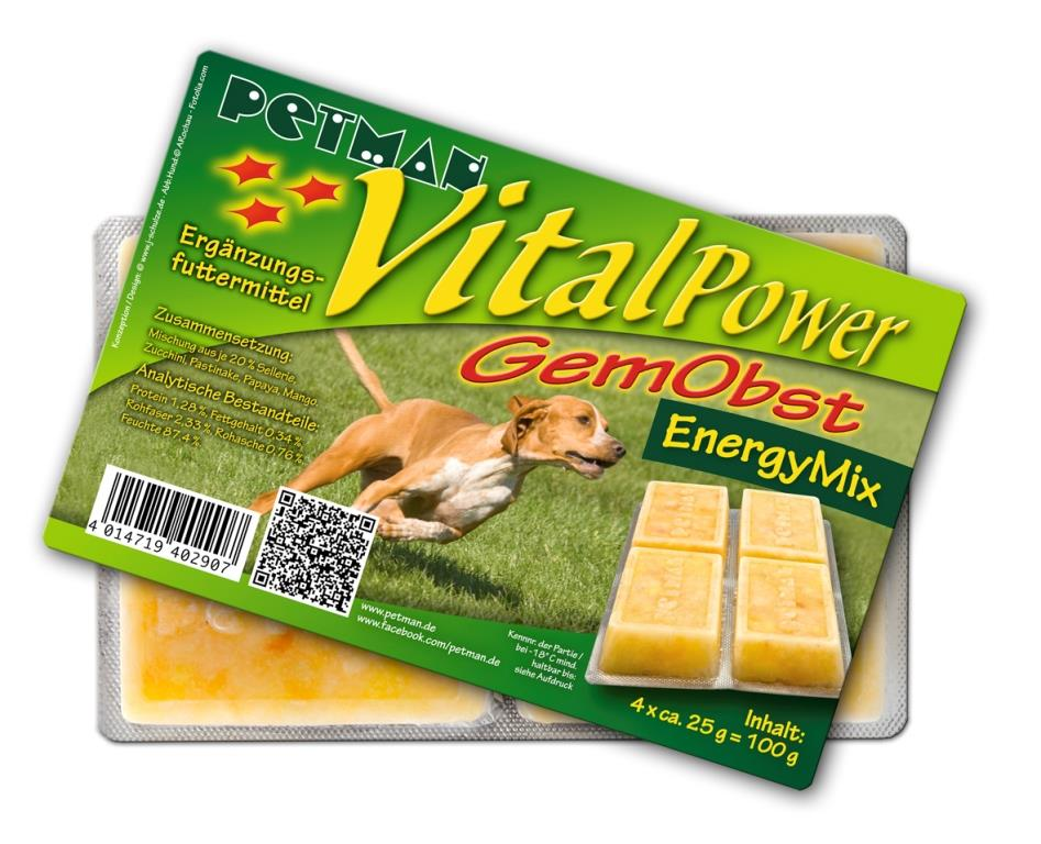 PETMAN Vital Power Gemüse Obst Energy Mix