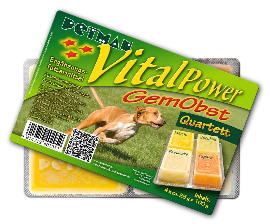 PETMAN Vital Power Gemüse Obst Quartett