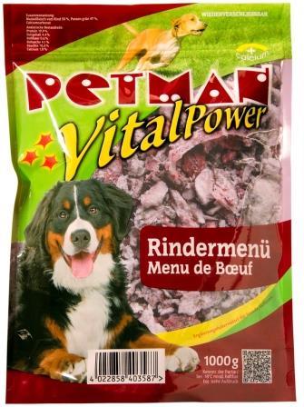 PETMAN Vital-Power Rindermenü