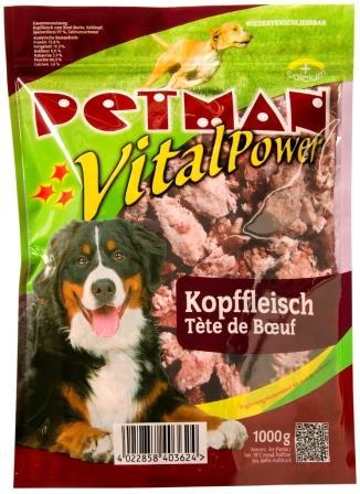 PETMAN Vital-Power Kopffleisch Rind