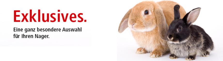 exklusives futter für kaninchen, meerschweinchen