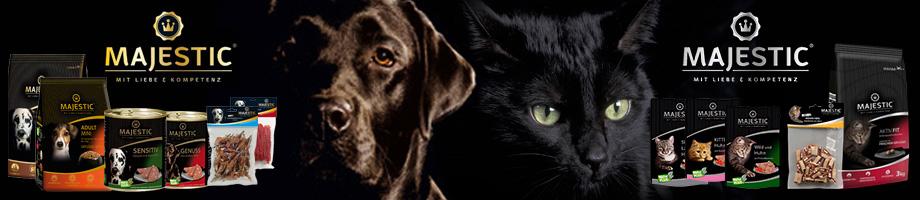 exklusives futter von majestic für hunde und katzen